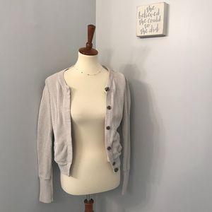 GAP cream knit button down cardigan
